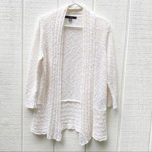 Fever white, knit cardigan size XL